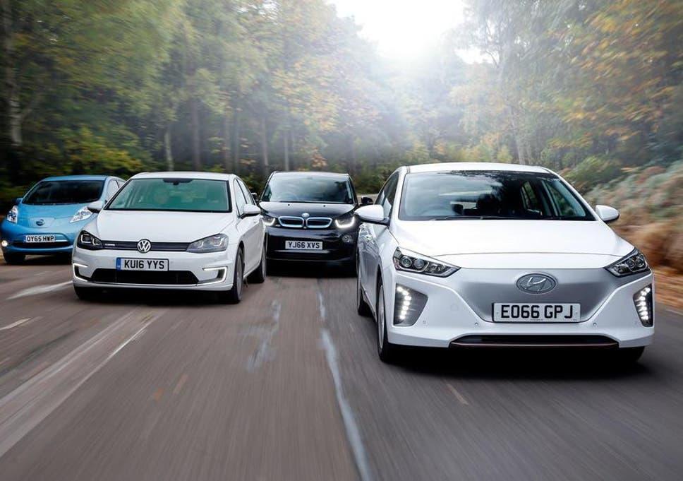 Group Test Electric Cars Hyundai Ioniq V Volkswagen E Golf V Bmw