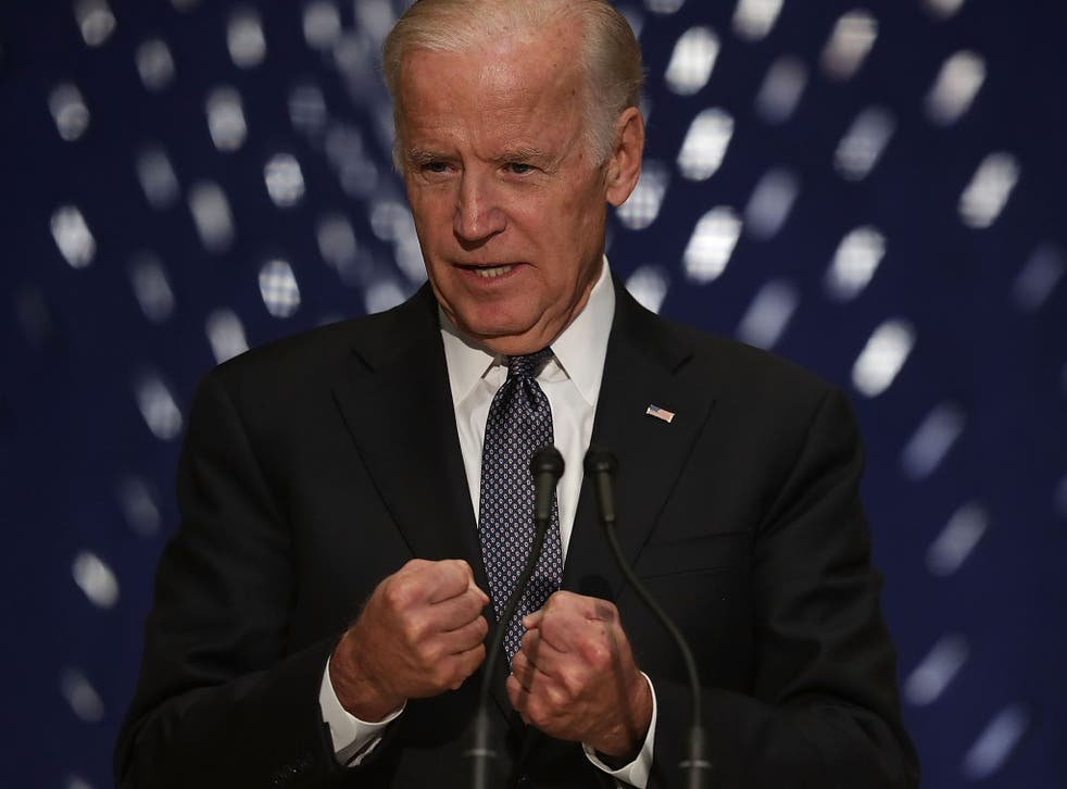 'Fate has a strange way of intervening,' Mr Biden told journalists when asked if he would run for the White House in 2020
