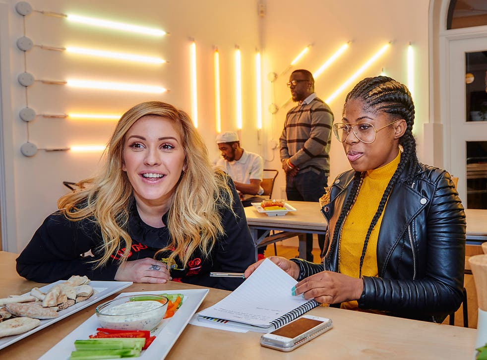 Ellie Goulding, seen here on a recent visit to a Centrepoint hostel, has backed the Homeless Helpline appeal