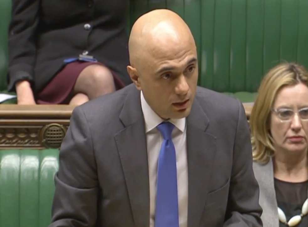 Sajid Javid in the House of Commons
