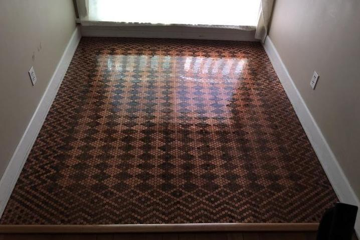 Someone tiled their floor with 13,000 pennies and people are