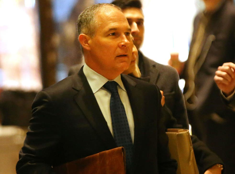 The pamphlet announcement follows Scott Pruitt's nomination to be head of the EPA