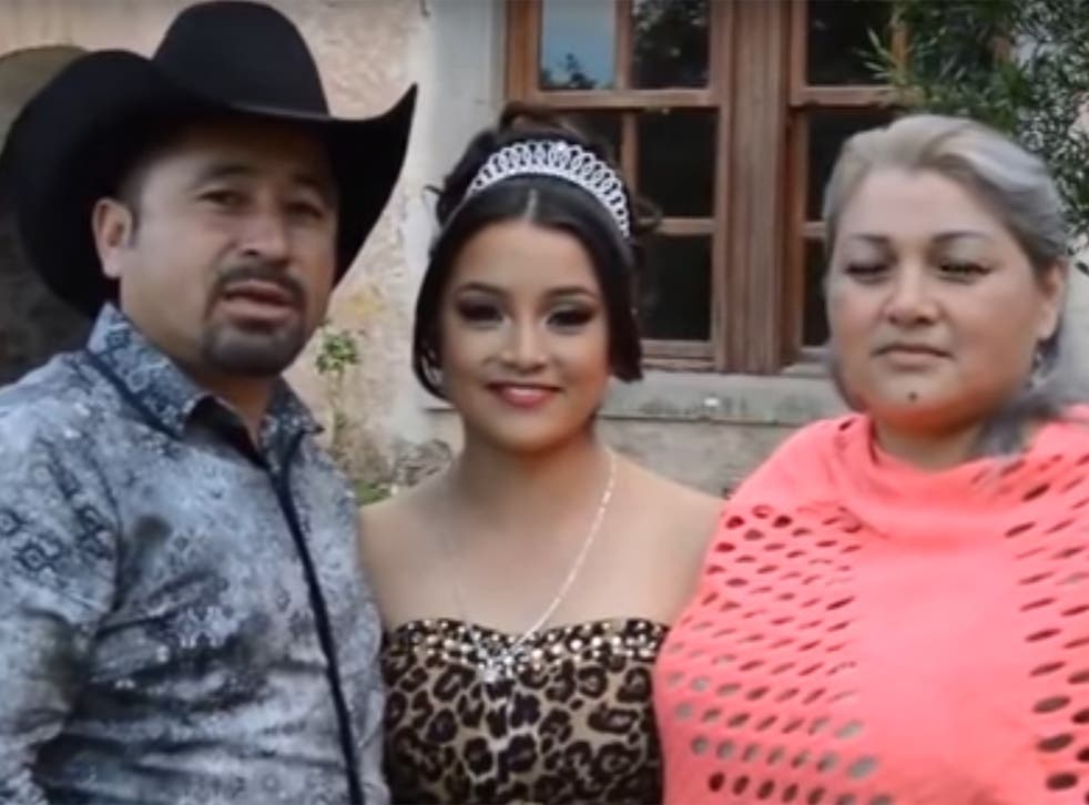 Rubi Ibarra Garcia and her parents uploaded a video to Facebook inviting friends and family to the birthday party