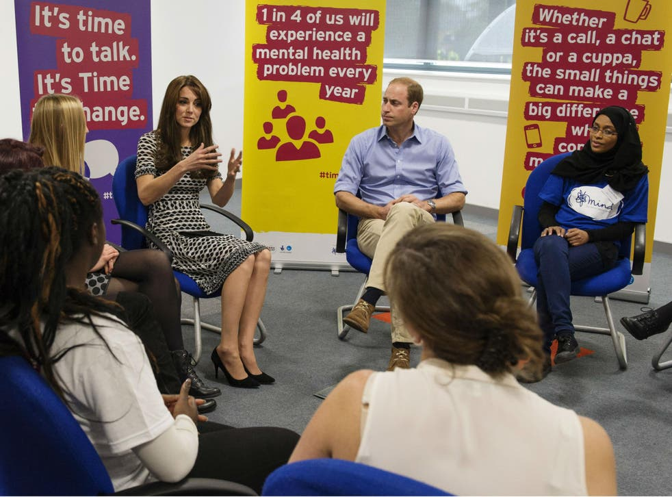Prince William and Kate Middleton attend an event hosted by Mind to mark World Mental Health Day on 10 October 2015. Last year, 13 local authorities spent nothing at all on preventing mental health problems