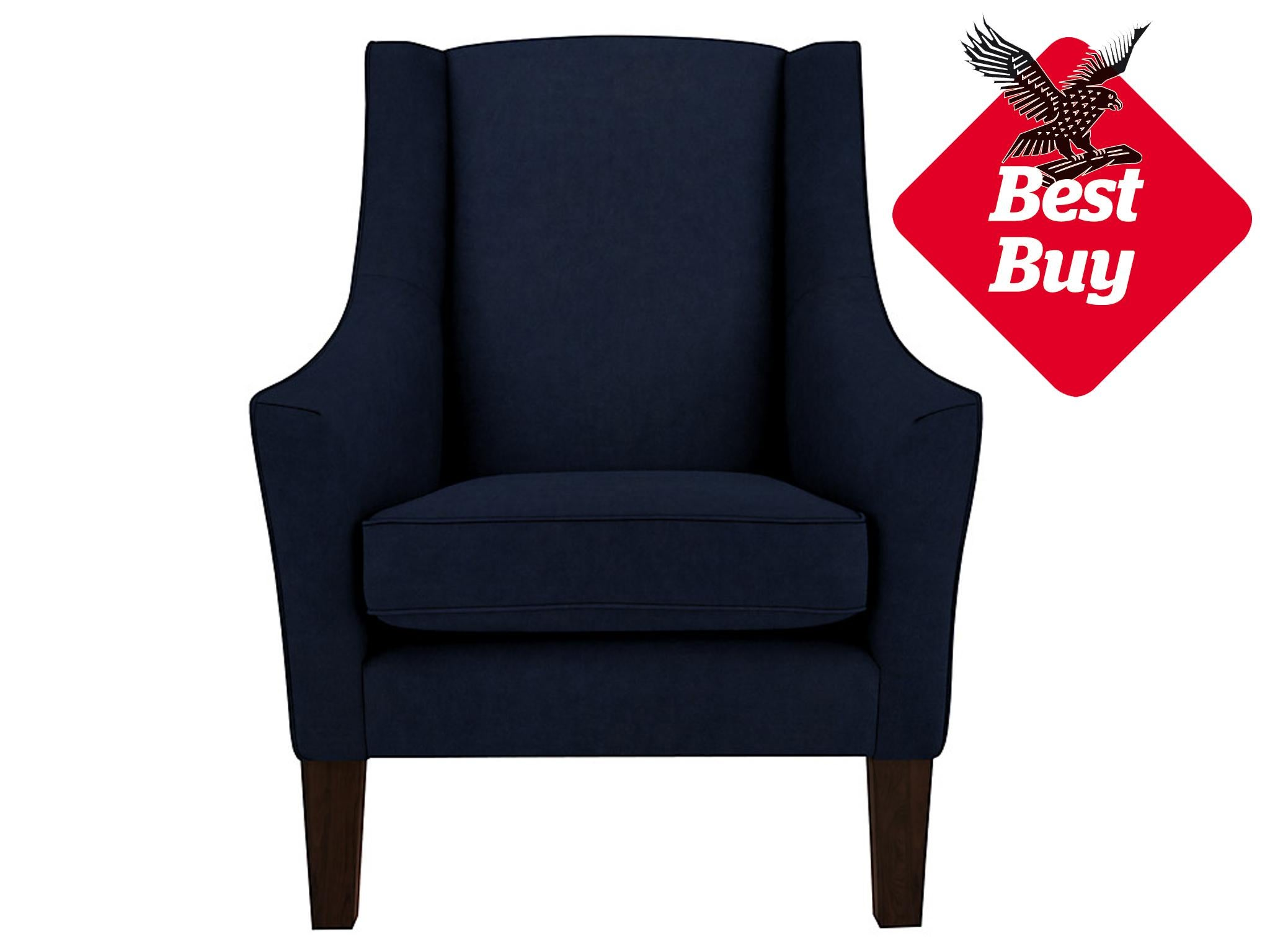 The Strong Silhouette Of The Mario Armchair Is Its Stand Out Feature U2013 Its  Flared Arms And High Back Look Particularly Striking Upholstered In An Inky  Blue.