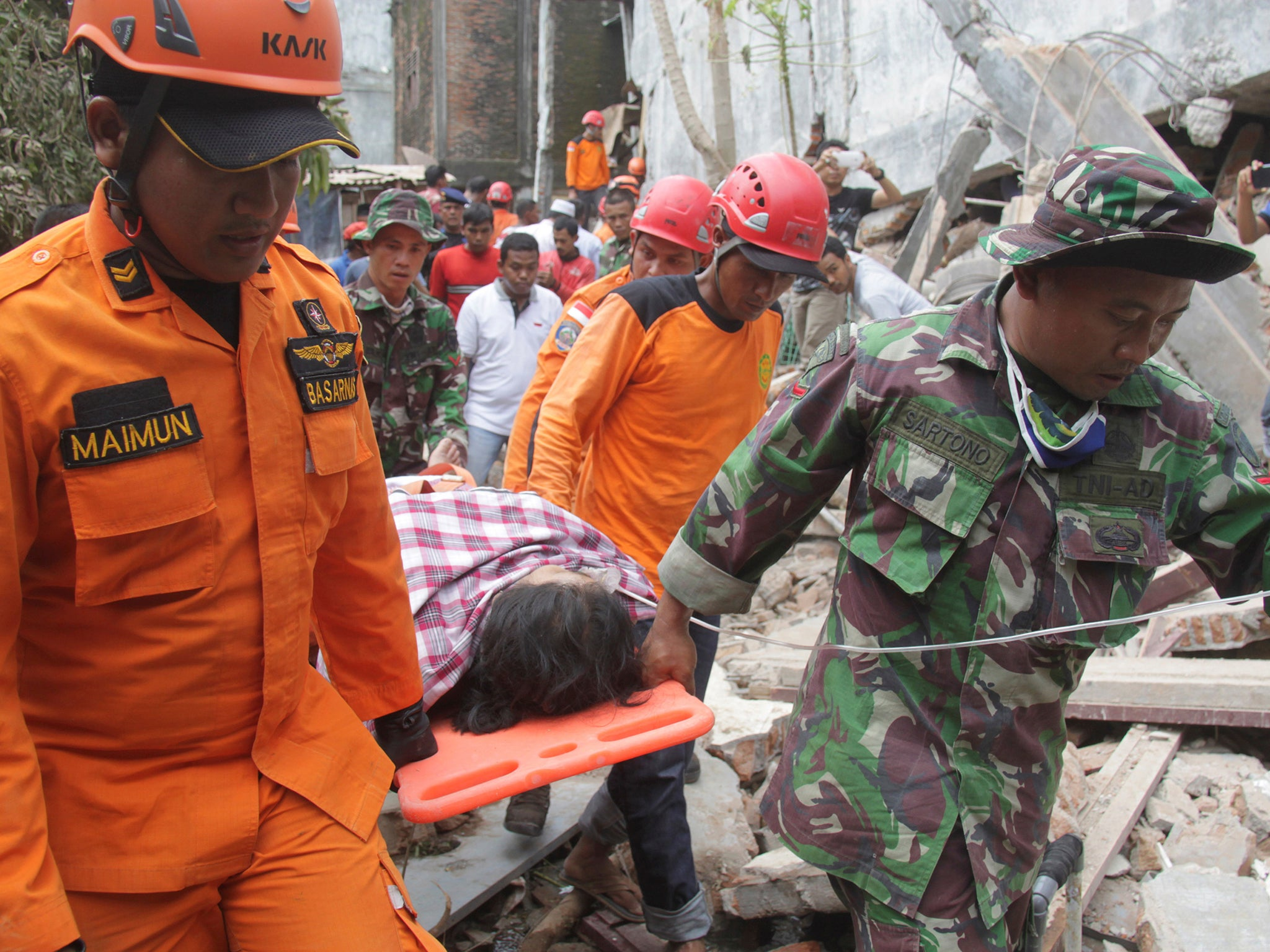 Indonesian earthquake death toll rises to 102 as rescue efforts continue  The Independent