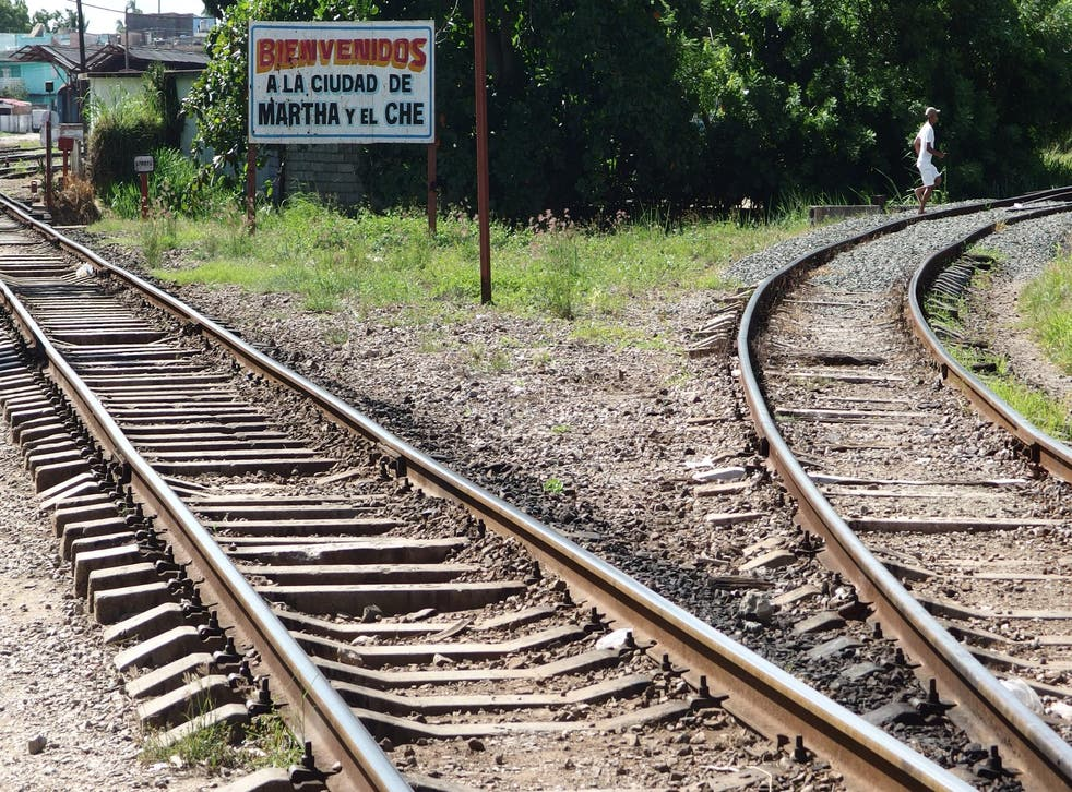 Which way now for Cuba? A railway junction in the city of Santa Clara, location for the decisive revolutionary victory