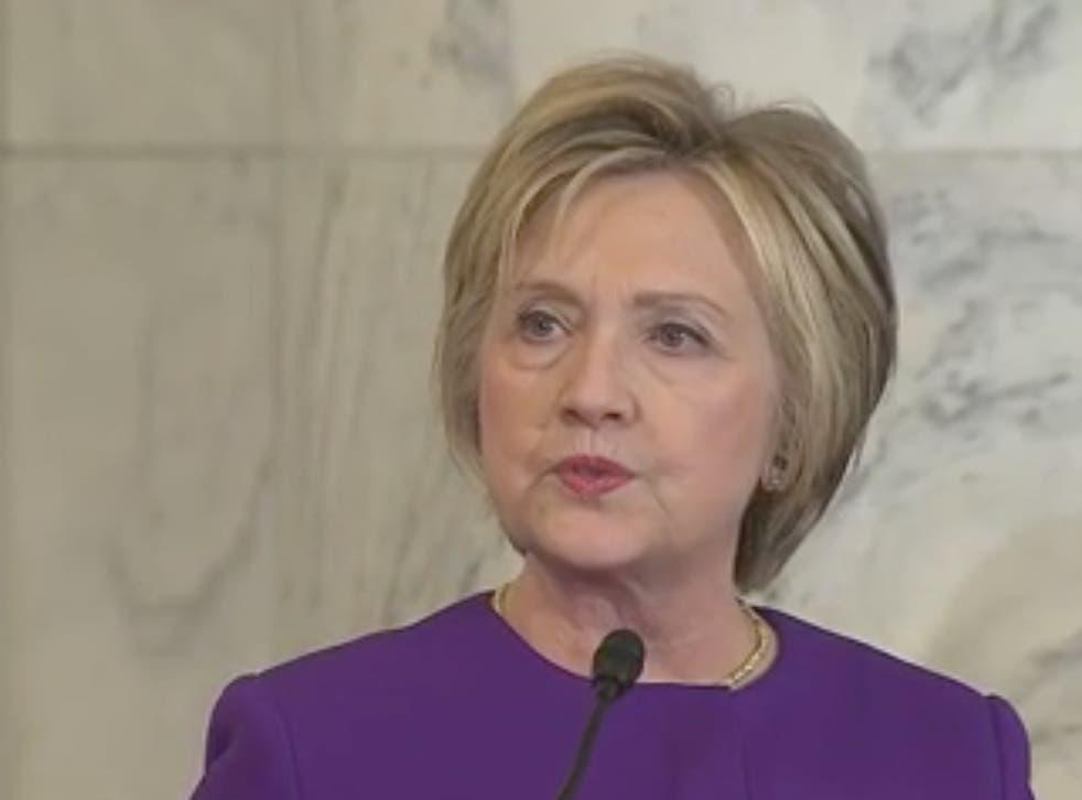 Hillary Clinton speaks at Harry Reid tribute