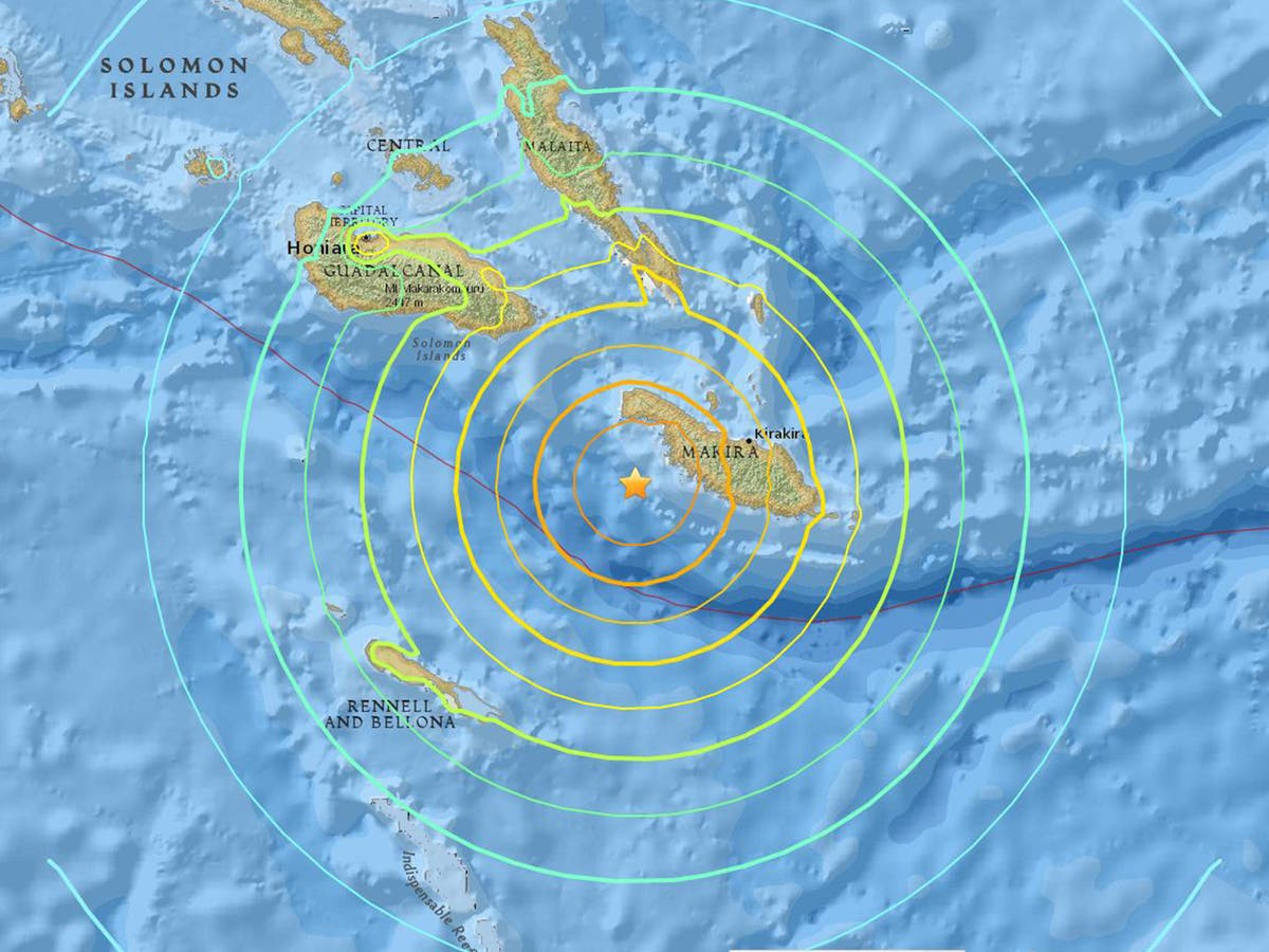 solomon islands earthquake tsunami warning lifted after