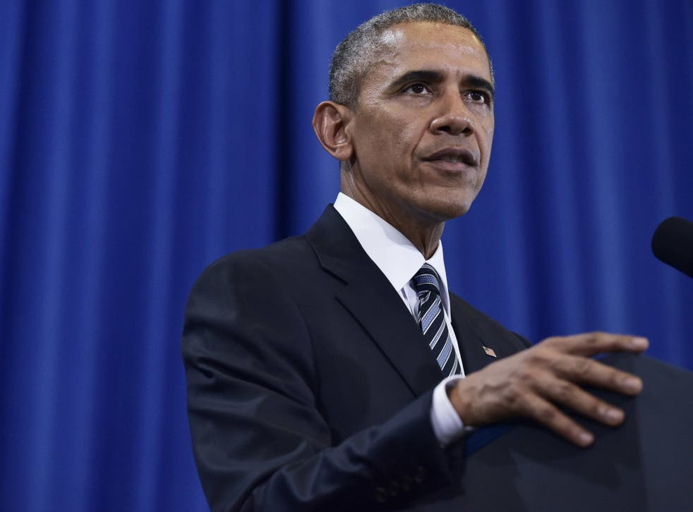 Barack Obama gives a counterterrorism speech in Tampa