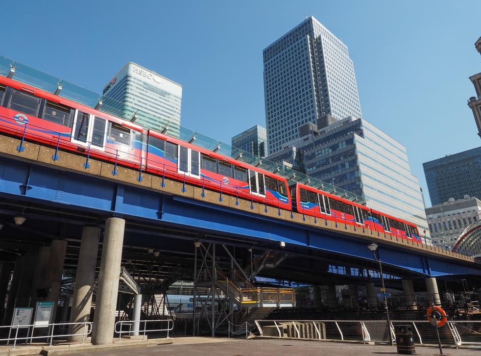 The Docklands Light Railway takes you from the City of London to London City