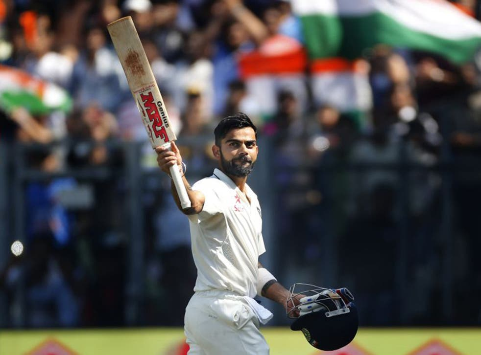 Kohli scored a personal-best 235 in a ground-record total of 631