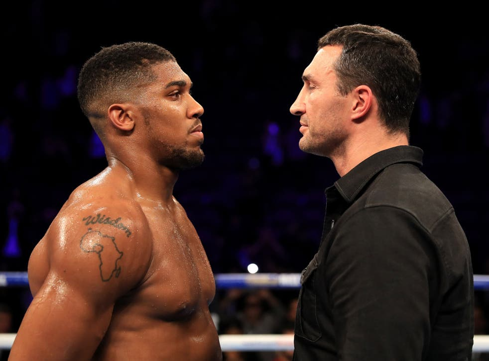 Joshua will meet the former king of the heavyweight division in April