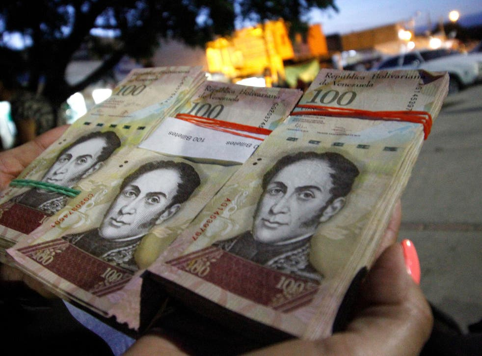 Data from the central bank showed there were more than six billion 100-bolivar notes in circulation in November