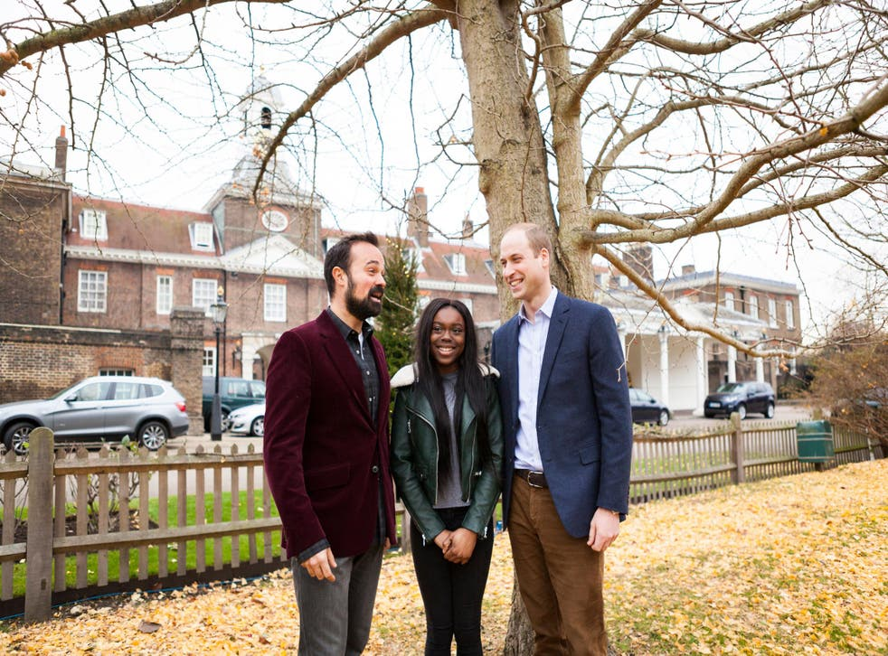 Samia Meah's photograph of Prince William, The Independent's owner Evgeny Lebedev and former Centrepoint resident Kumba Kpakima