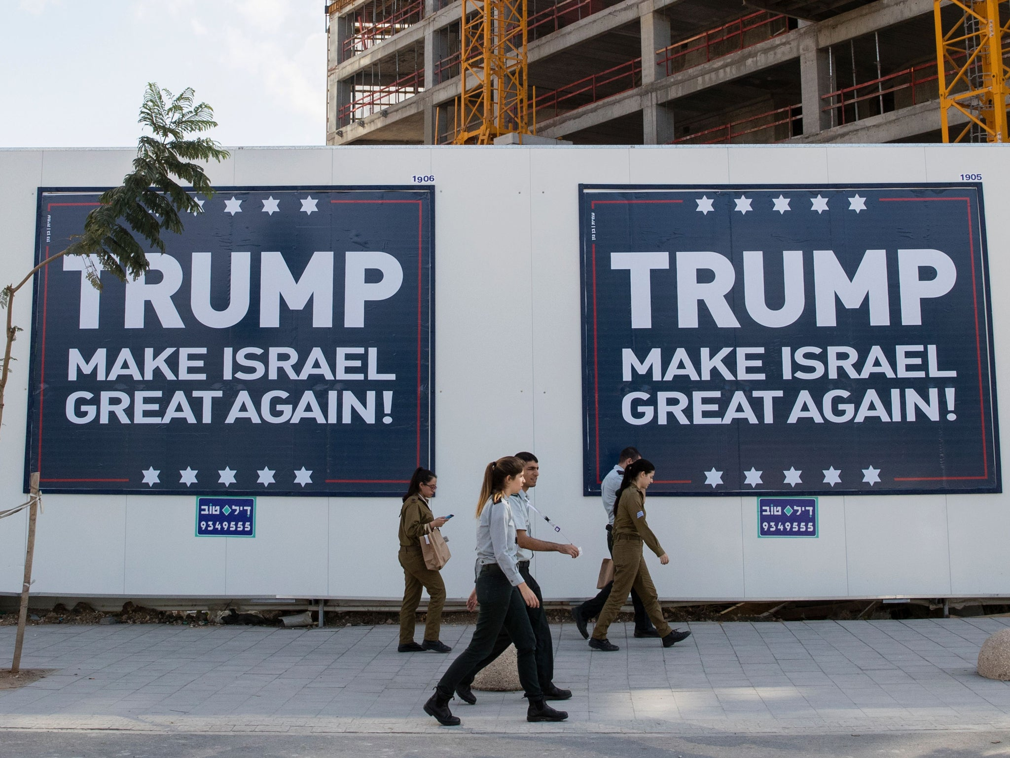 Image result for israel supports Trump