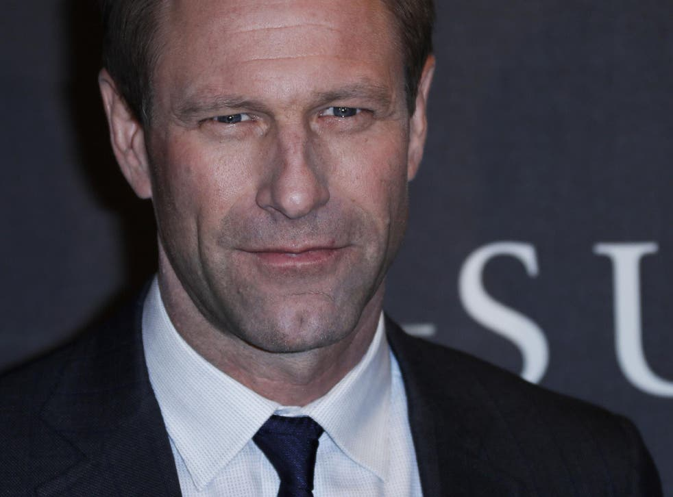Aaron Eckhart poses during the photocall of US director Clint Eastwood's latest movie 'Sully' in Paris