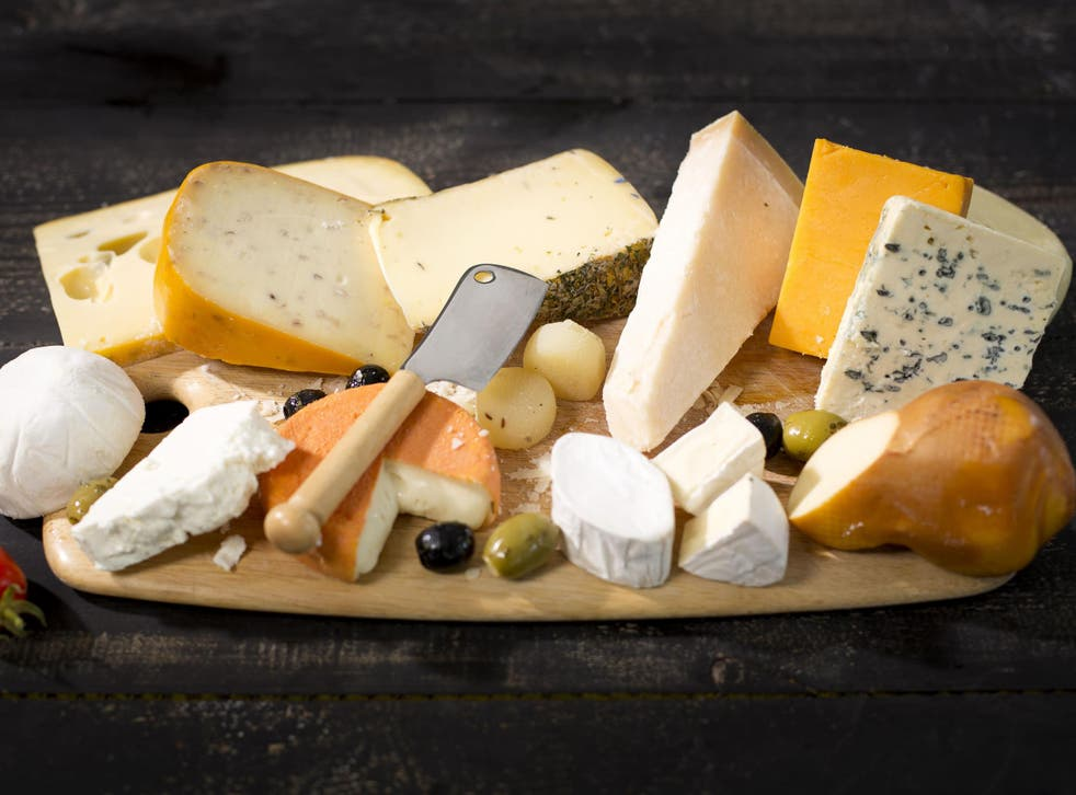 A selection of cheeses, which are high in saturated fat