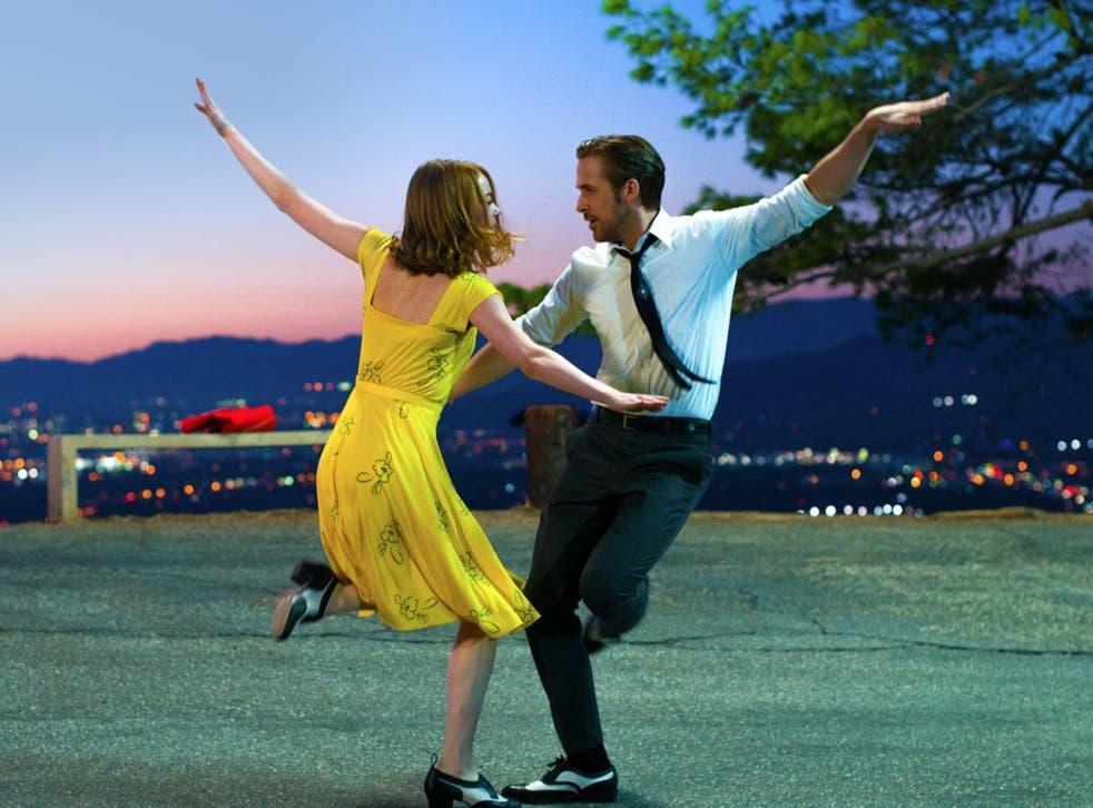 Emma Stone as Mia and Ryan Gosling as Sebastian in 'La La Land'