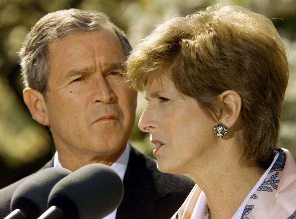 Christine Todd Whitman, seen speaking while watched by former President George W Bush, warns Scott Pruitt's appointment 'doesn't put us in a good place'