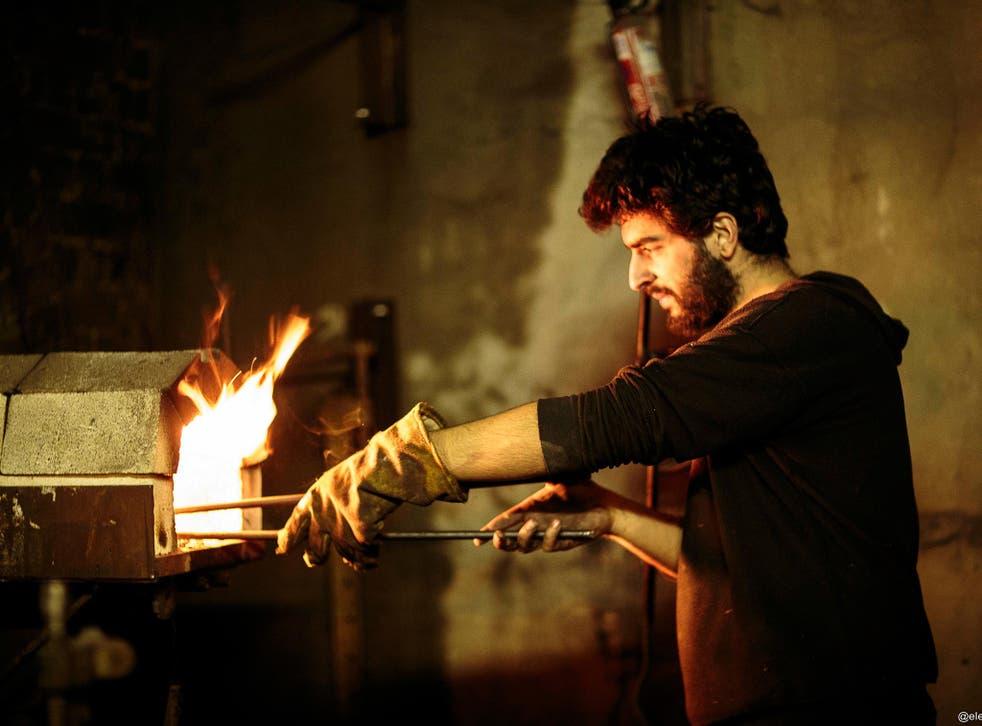 Jon Warshawsky at work at Blenheim Forge in Peckham