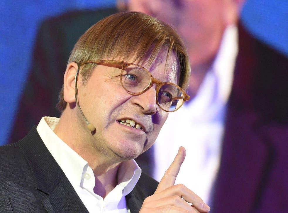 European Parliament chief negotiator Guy Verhofstadt