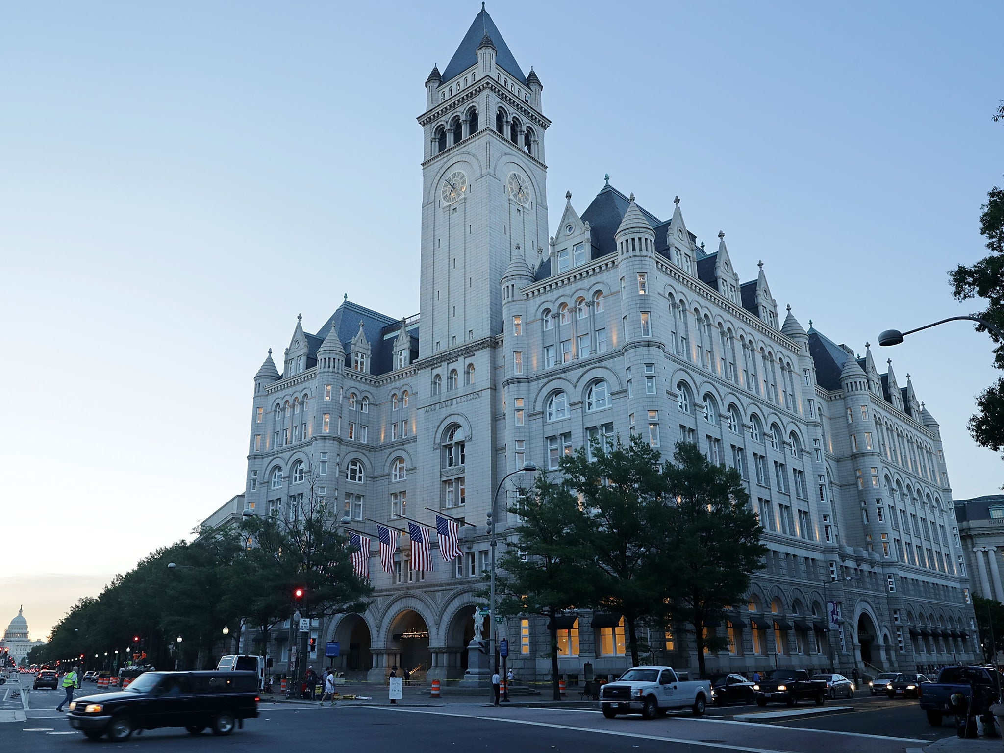 Donald trump must give up stake in washington dc hotel for Trump hotel dc decor