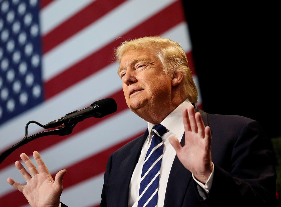 US President-elect Donald Trump speaks at the USA Thank You Tour event at the Wisconsin State Fair Exposition Center in West Allis, Wisconsin, US