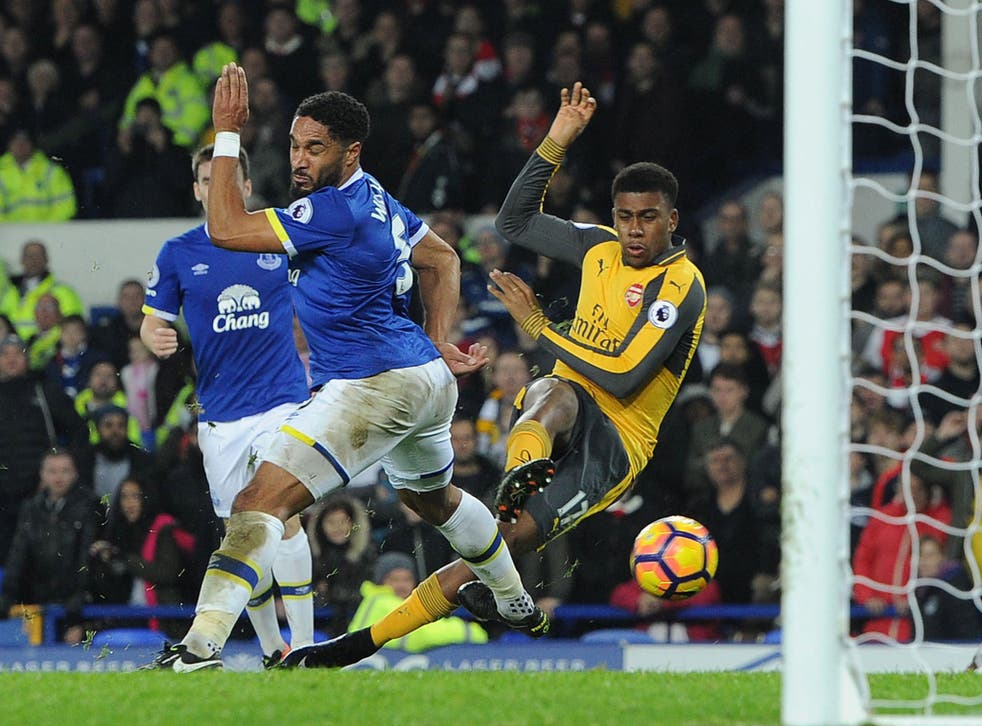 Iwobi saw an effort cleared off the line by Leighton Baines in the dying moments