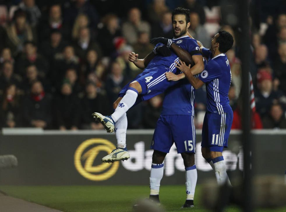 Fabregas opened the scoring after a one-two with Willian