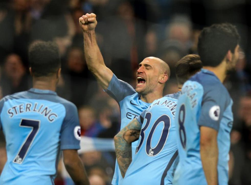 Zabaleta struck to score his first goal in two years