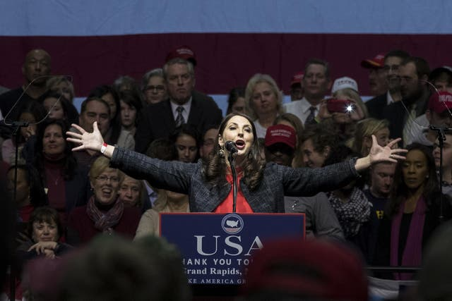 Ms McDaniel was 'completely committed' to the president-elect, according to Stephen Bannon