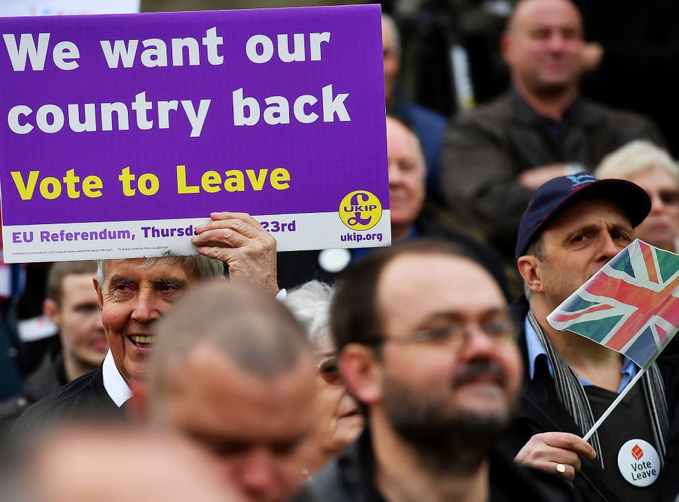 More than 10 per cent of Leave voters wanted a return to smoking in pubs and restaurants