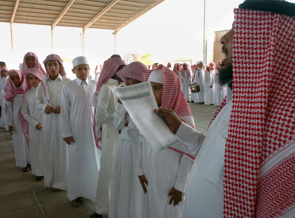 Saudi children must be educated according to Islamic values, according to the country's constitution