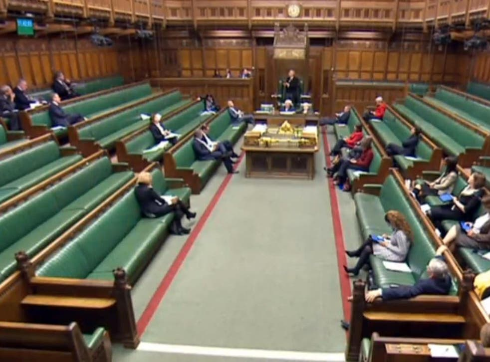 MPs during the debate on the anti-domestic violence bill