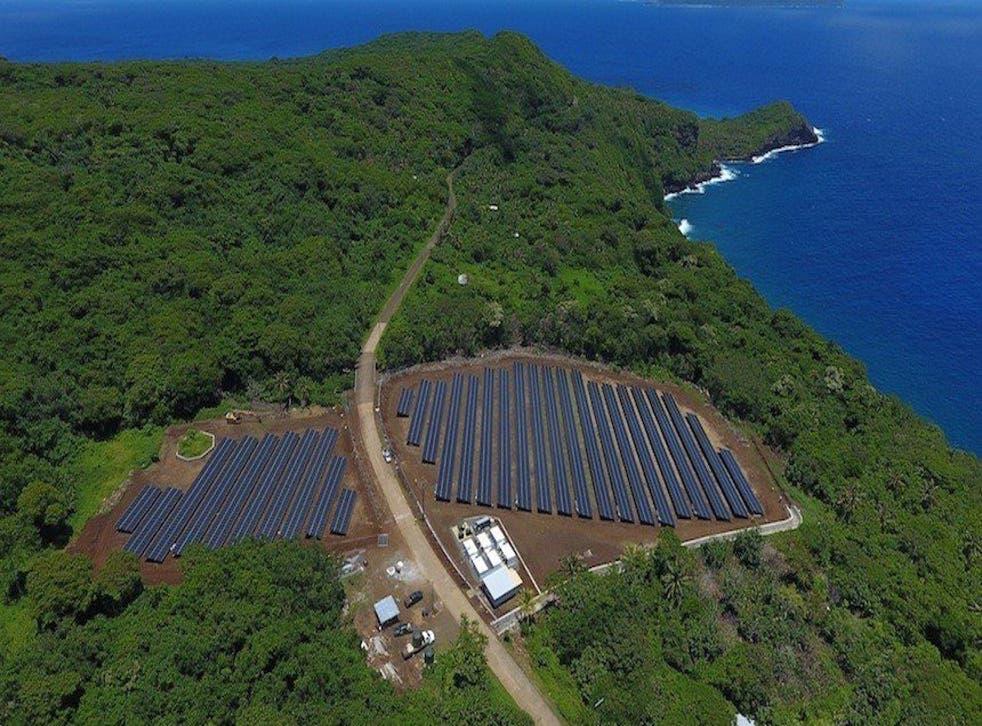 The solar array in Ta'u.