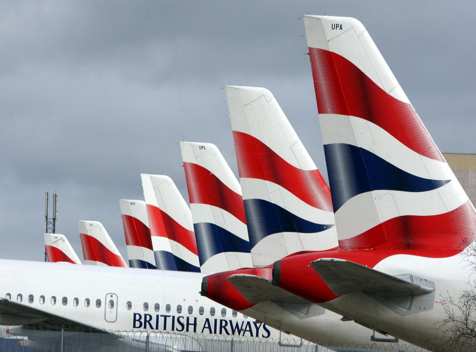 British Airways aircraft at Heathrow Airport, as the airline said that cabin crew will strike on Christmas Day and Boxing Day in a row over pay