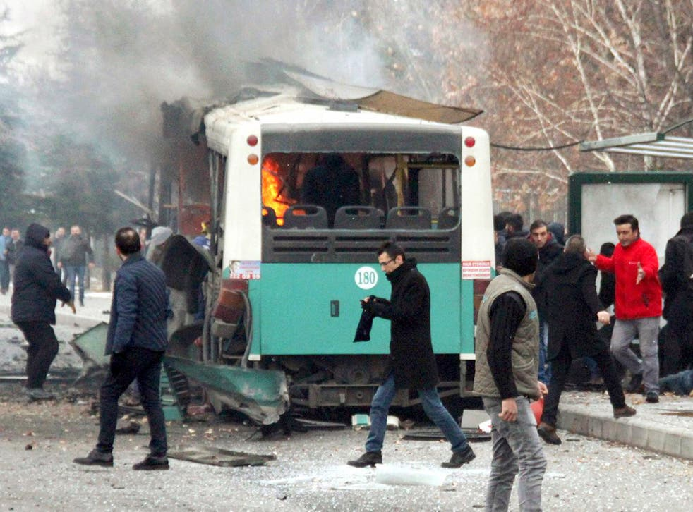 The aftermath of the explosion in Kayseri