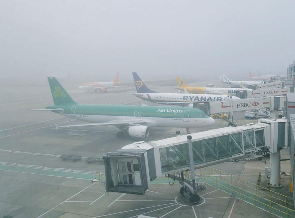 There was a heavy fog over London, including its airports