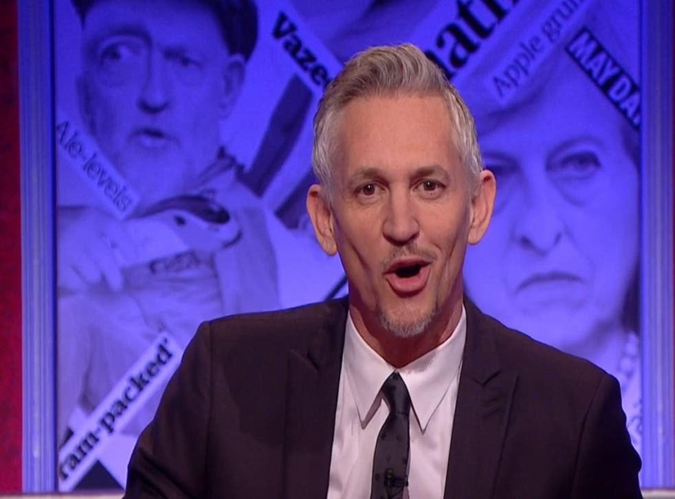 Gary Lineker made a joke that enraged a lot of Brexiteers on Have I Got News For You this weekend