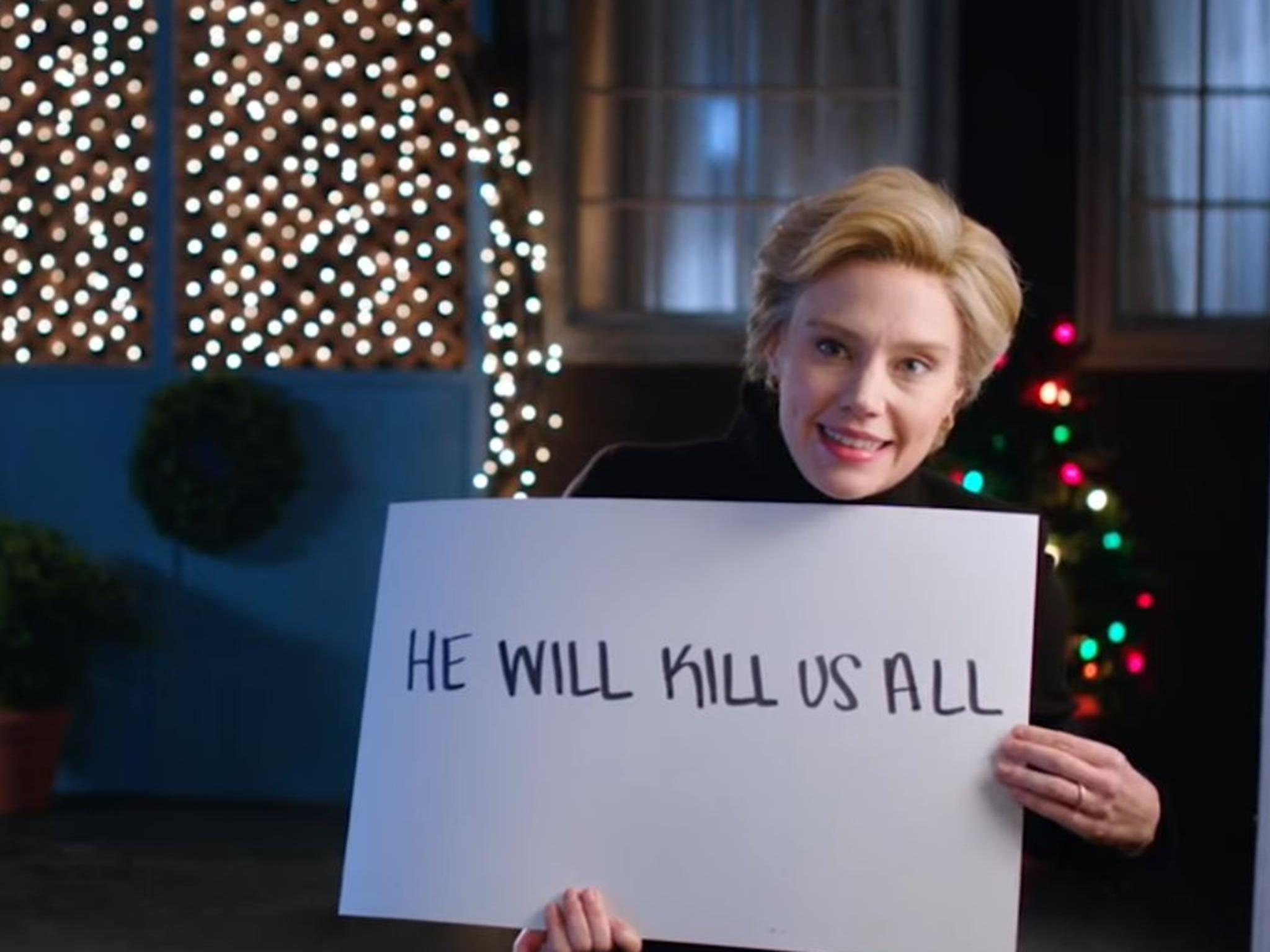 SNL smashes 'Love Actually' spoof with Hillary Clinton asking ...