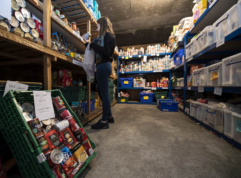 Use of food banks, such as this one in London's Waterloo, is at record levels across the country