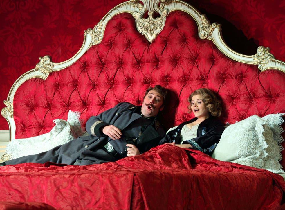 Matthew Rose as Baron Ochs and Renee Fleming as the Marschallin