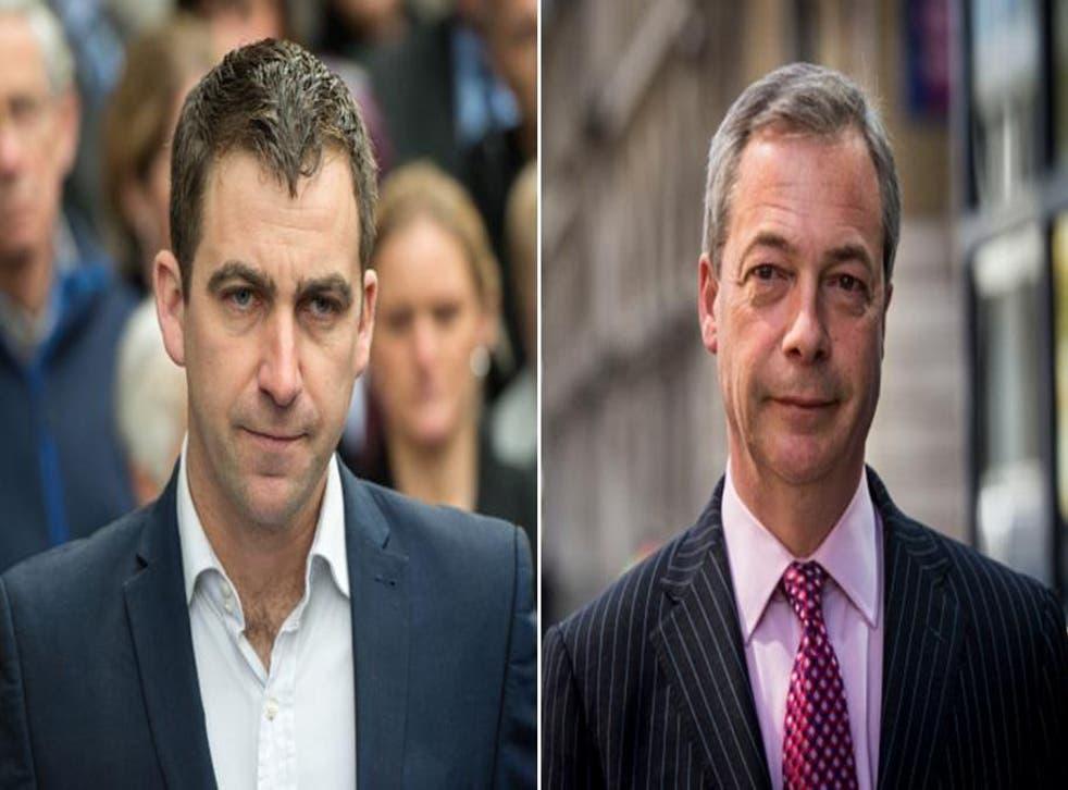 Brendan Cox (left) and Nigel Farage exhanged words following an atrocity in Berlin on Monday