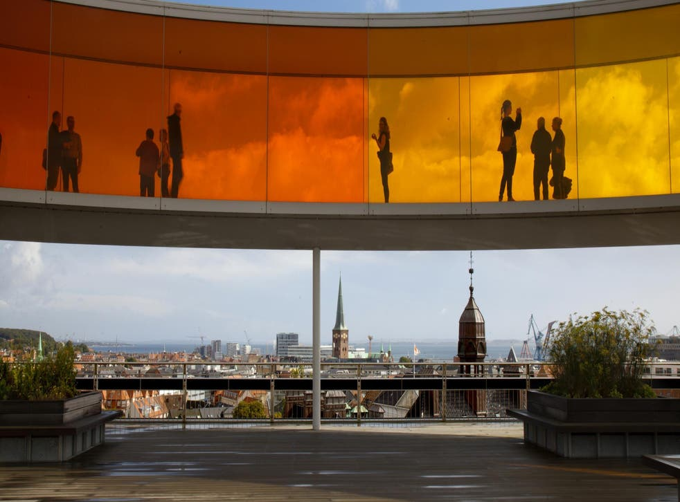 Look out onto the city from Your Rainbow Panorama