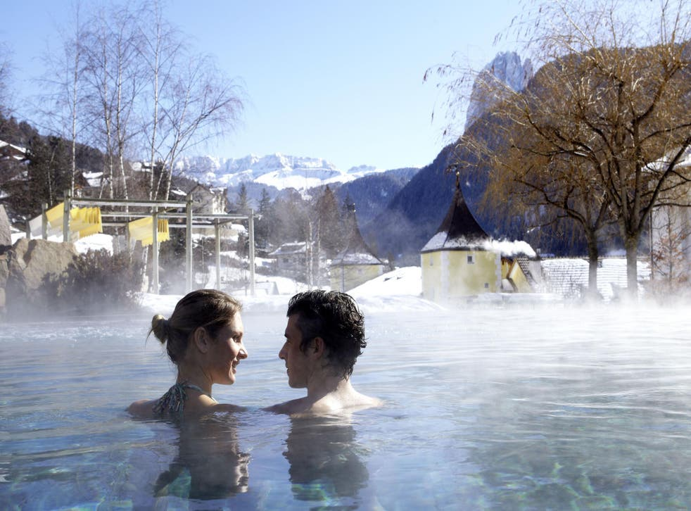 Adler Balance in the Dolomites offers thermal pools and sound frequency therapy