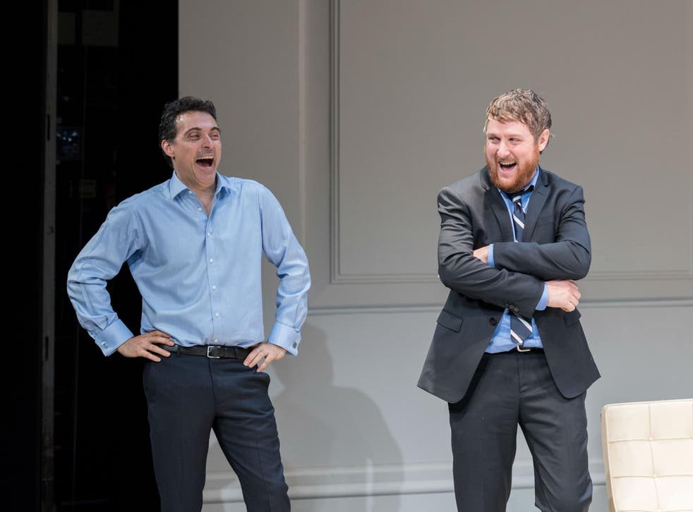 Rufus Sewell (Serge) and Tim Key (Yvan) in 'Art' at The Old Vic