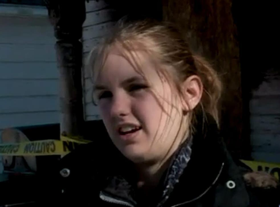 Sarah Chase, 13, had to break through a window to escape