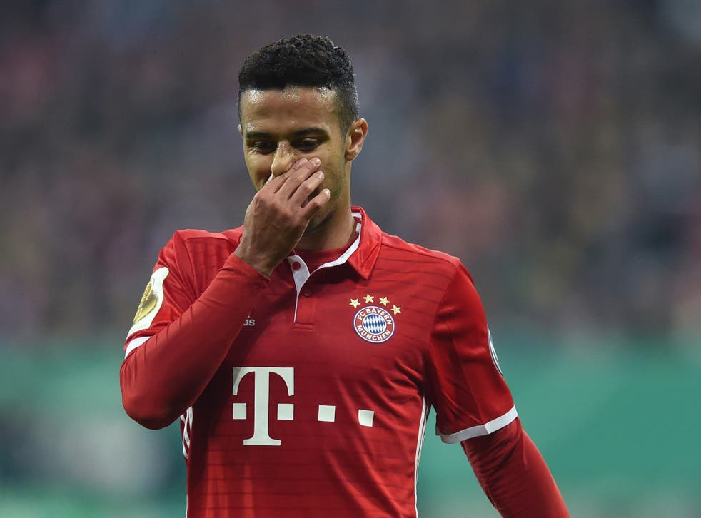 Thiago had a moment to forget during the win over Leipzig