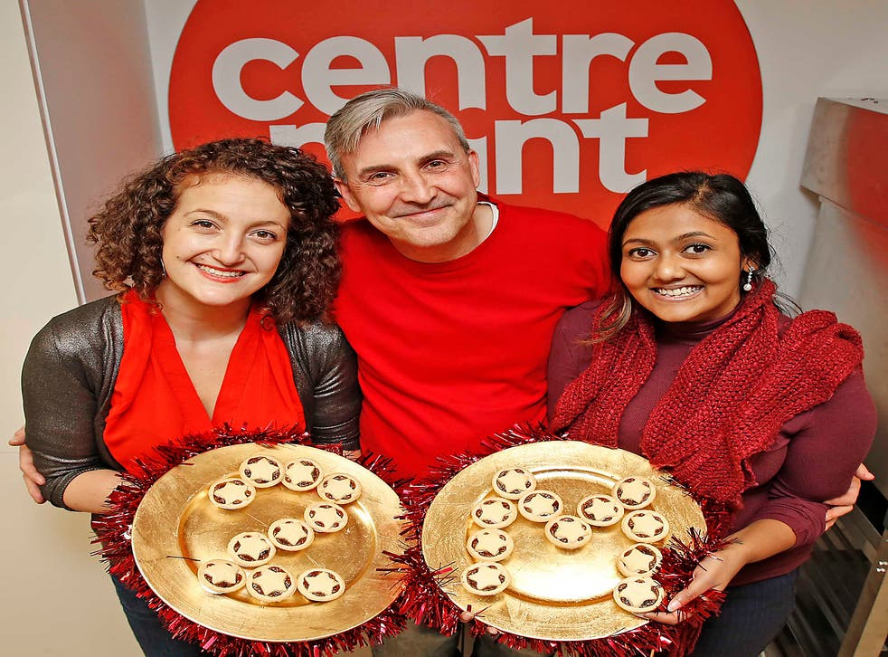 From left to right: Gaia Marcus, Matt Carlisle and Samia Meah Staff from the Centrepoint Parliament celebrate the campaign's latest milestone